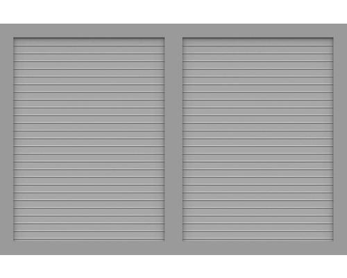 Element principal BasicLine tip V 180 x 120 cm, gri argintiu