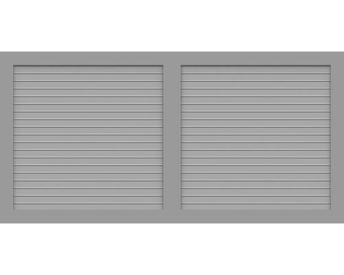 Element principal BasicLine tip W 180 x 90 cm, gri argintiu