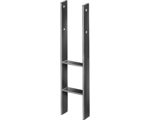 Suport stalp tip H 101x300x600 mm, zincat, fixare in beton