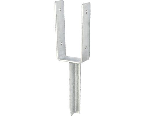 Suport stalp tip U 81x200x200 mm, zincat, fixare in beton