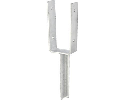 Suport stalp tip U 101x200x200 mm, zincat, fixare in beton