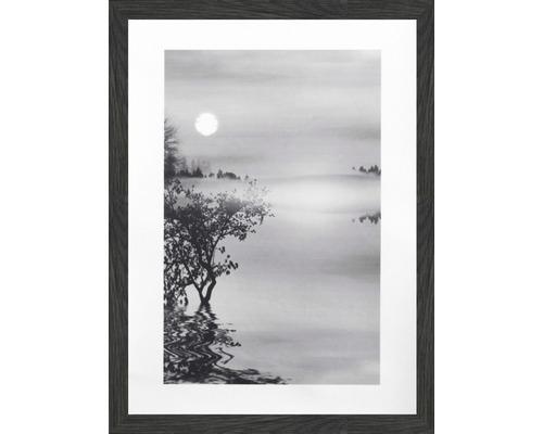 Tablou inramat Ceata alb-negru 30x40 cm