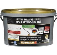 Vopsea lavabilă Meister Polar Weiss Plus fără conservanți 10 l
