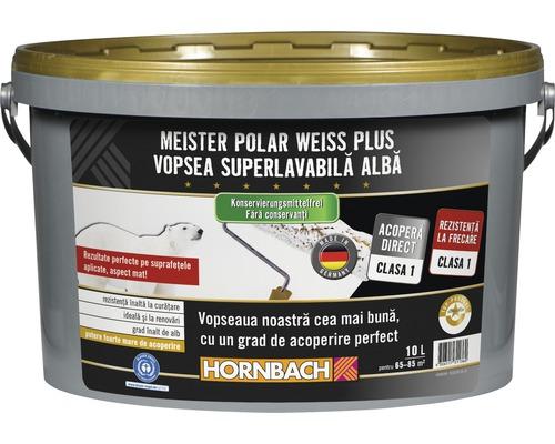 Vopsea lavabila Meister Polar Weiss Plus fara conservanti 10 l