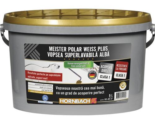 Vopsea lavabila Meister Polar Weiss Plus fara conservanti 5 l