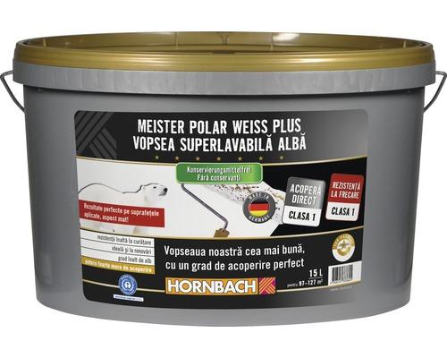 Vopsea lavabila Meister Polar Weiss Plus fara conservanti 15 l