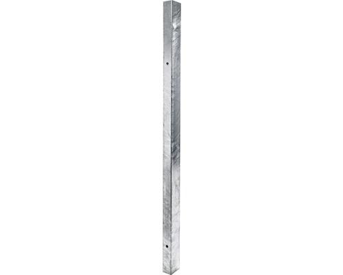 Stalp zincat 60 x 40 x 2 mm, h 1200 mm, argintiu