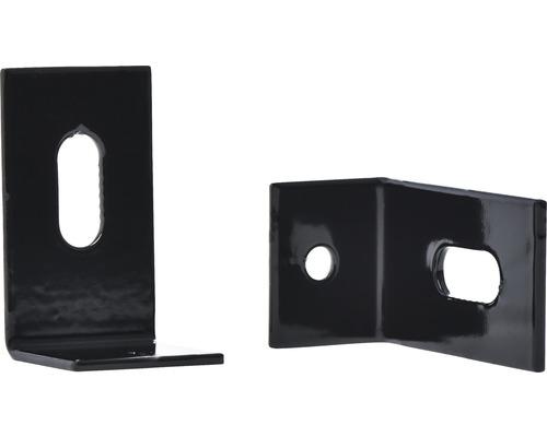 Clema pentru fixare gard, L, negru
