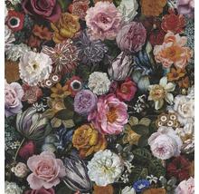 Tapet vlies amalgam flori multicolore 10,05x0,53 m