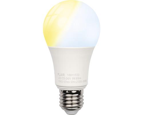 Bec LED variabil Flair Viyu E27 9W 806 lumeni, glob mat A60, lumină albă 2700-6500K, compatibil smart-home