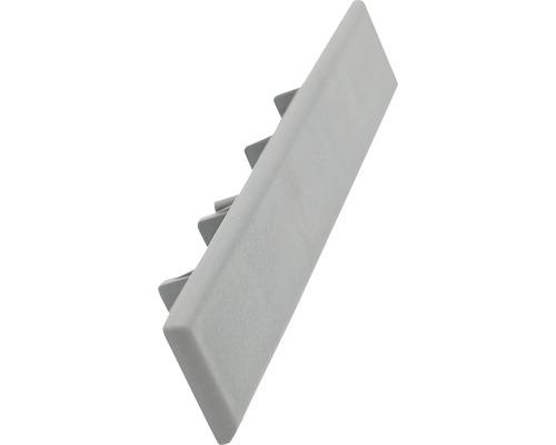 Capace pentru terasa WPC gri inchis 12 bucati