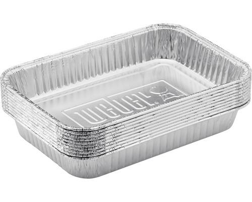 Tăvi mici Weber pentru grătar din aluminiu, 10 buc.