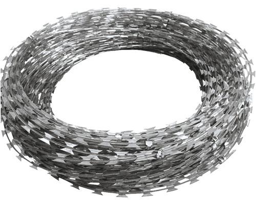 Concertina gard 50 m, argintiu