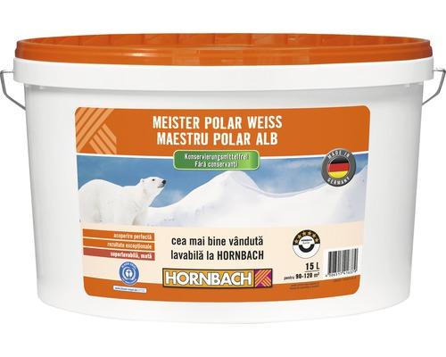 Vopsea lavabila Meister Polar Weiss fara conservanti 15 l