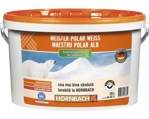 Vopsea lavabila Meister Polar Weiss fara conservanti 10 l