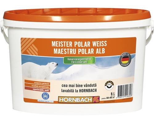 Vopsea lavabila Meister Polar Weiss fara conservanti 5 l