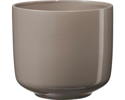 Masca pentru ghiveci Bari, ceramica, Ø 16 cm, H 14 cm, gri