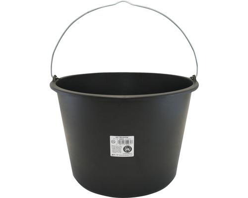 Galeata pentru mortar din polietilena neagra 20 litri