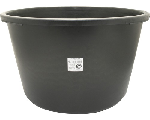 Ciubăr pentru mortar din polietilenă negru 90 litri