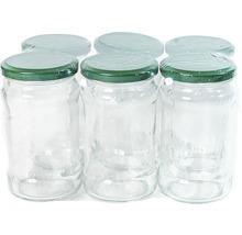 Set borcane cu capac, 314 ml, 6 bucăți