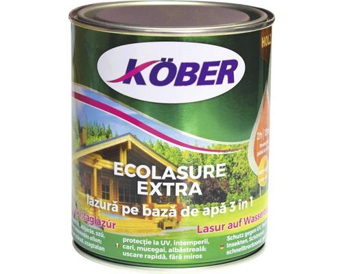Lazura pe baza de apa Ecolasure extra Köber alba 0,75 l