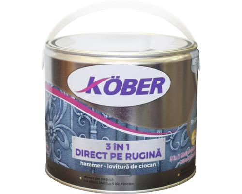 Email anticoroziv cu efect de lovitura de ciocan Köber hammer negru 2,5 l