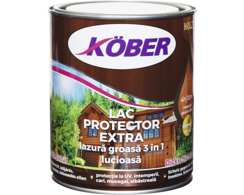 Lac protector extra Köber lazura groasa 3 in 1 incolor 0,75 l