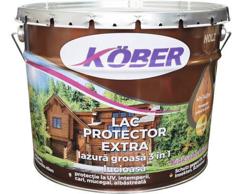 Lac protector extra Köber lazura groasa 3 in 1 mahon 10 l