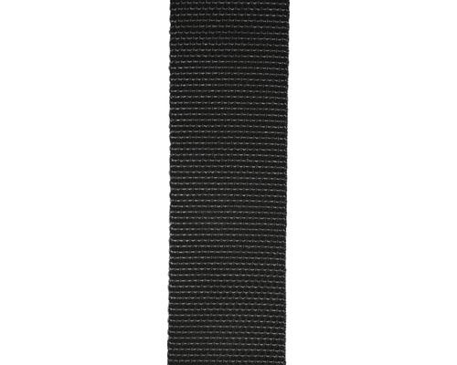 Chingă poliester Mamutec 40mm, culoare neagră