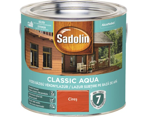 Lazura pentru lemn Sadolin Classic Aqua cires 2,5 l