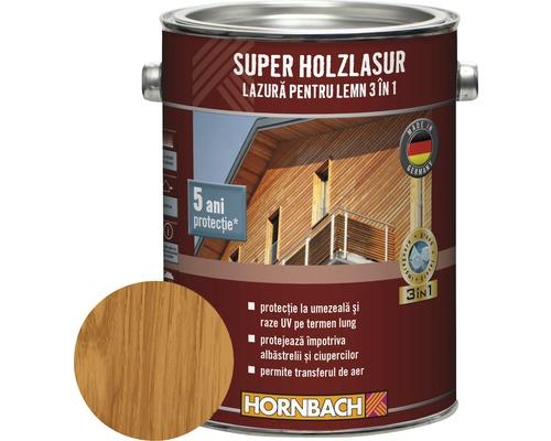 Lazura pentru lemn 3 in 1 Super Holzlasur teak 2,5 l