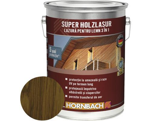 Lazura pentru lemn 3 in 1 Super Holzlasur nuc 5 l