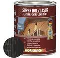 Lazura pentru lemn 3 in 1 Super Holzlasur antracit 0,75 l