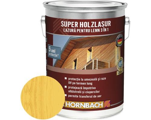 Lazura pentru lemn 3 in 1 Super Holzlasur pin-larice 5 l