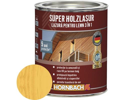 Lazura pentru lemn 3 in 1 Super Holzlasur pin-larice 0,75 l