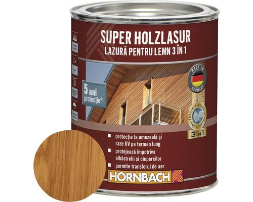 Lazura pentru lemn 3 in 1 Super Holzlasur teak 0,75 l