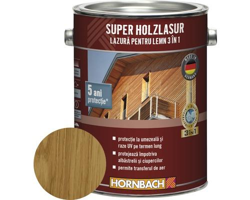 Lazura pentru lemn 3 in 1 Super Holzlasur stejar 2,5 l