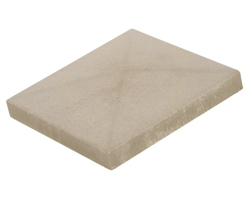 Capac gard Elis alb crem 30x30 cm