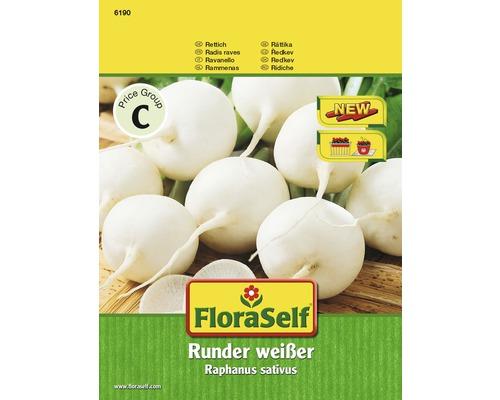 FloraSelf seminte de ridichi albe rotunde
