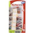 Dibluri plastic cu surub Fischer DuoPower 6x30 mm, 12 bucati, incl. capacele autoadezive de mascare