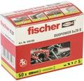 Dibluri plastic cu șurub Fischer DuoPower 5x25 mm, 50 bucăți