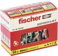 Dibluri plastic cu șurub Fischer DuoPower 6x30 mm, 50 bucăți