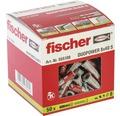 Dibluri plastic cu șurub Fischer DuoPower 8x40 mm, 50 bucăți