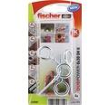 Dibluri plastic cu ochi Fischer DuoPower 6x30 mm, pachet 4 bucati