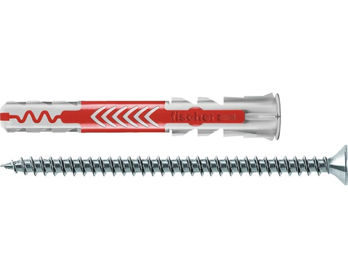 Dibluri plastic cu șurub Fischer DuoPower 6x50 mm, pachet 4 bucăți