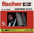 Dibluri plastic cu șurub Fischer DuoPower 14x70 mm, 8 bucăți