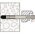 Ancore cu surub Fischer F10M 10x152 mm, 6 bucati, pentru rame/tocuri, incl. capacele de mascare