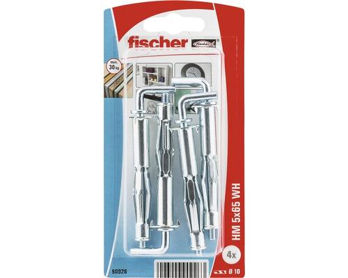 Ancore metalice cu carlig Fischer HM Ø10x65 mm, filet metric M5, 4 bucati, pentru perete fals