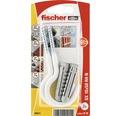 Dibluri plastic cu carlig rotund alb Fischer SX 10x50 mm, 2 bucati