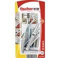 Dibluri plastic cu surub Fischer SX 8x40 mm, 10 bucati, incl. capacele autoadezive de mascare